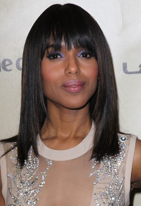 Kerry Washington Super Sleek Hairstyle 2013 - 2013 Golden Globe Awards Hairstyles