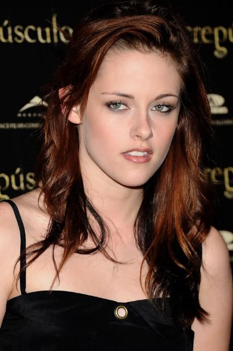 Kristen Stewart Layered Shoulder Length Red Tinted