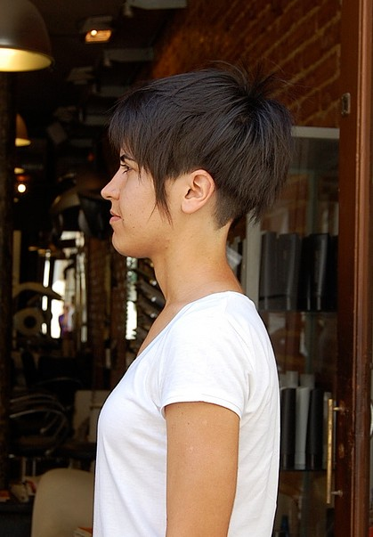 Bob haircut short hair