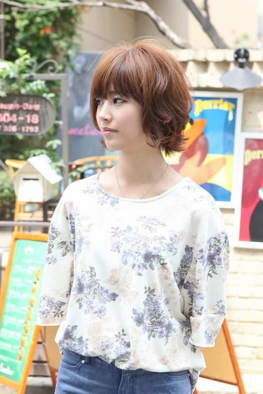 2013 Asian Hair Color Trends: Layered Brown Bob Hairstyle