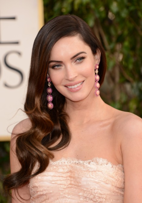 Megan Fox Sleek Sharp Side Parted Wavy Hairstyle - 2013 Red Carpet Hairstyles
