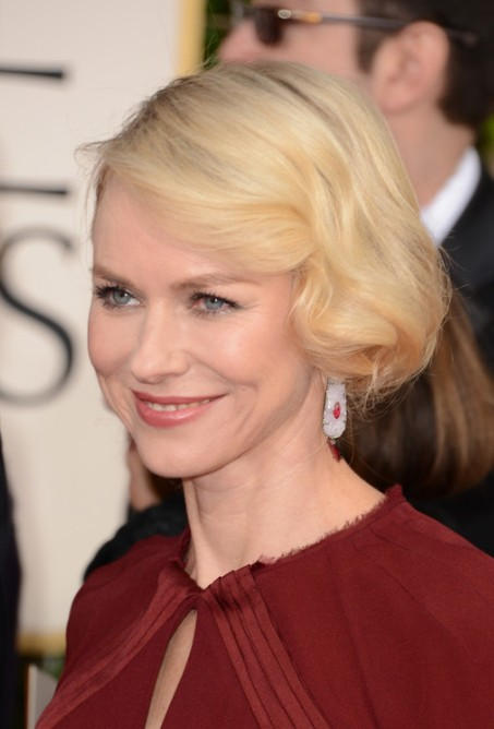Naomi Watts Short Blonde Wavy Bob Hairstyle 2013