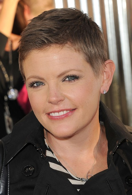 Very Short Boyish Pixie Haircut For Women Natalie Maines
