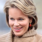 Princess Mathilde Classic Side Part Short Hairstyle