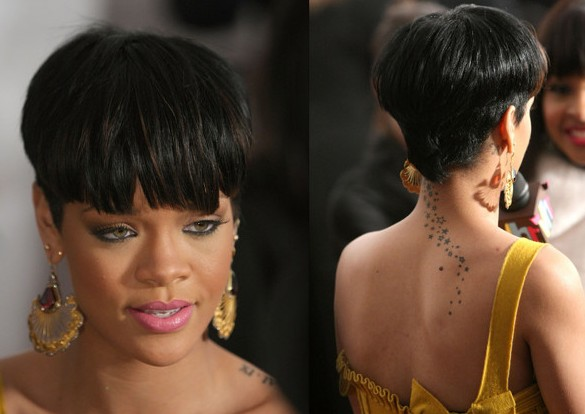 Superb Ultra Trendy Short 39Rihanna39 Bowl Cut Avant Garde Hairstyle Short Hairstyles For Black Women Fulllsitofus