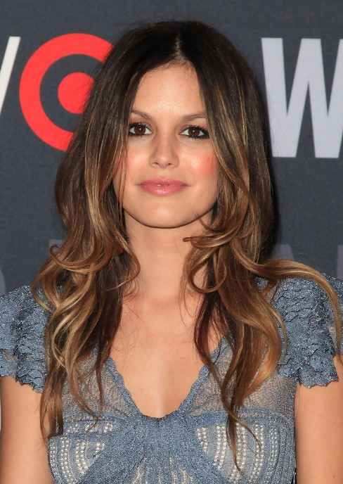 Rachel Bilson Center Part Long Soft Curly Hairstyle 2013