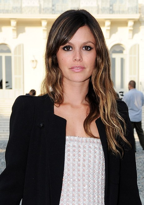 Rachel Bilson Simple Long Straight Hairstyle with Bangs