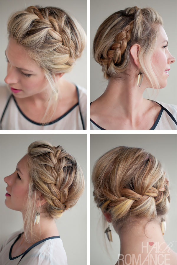 Romantic French Crown Braid For Wedding 2013 2014 Hairstyle