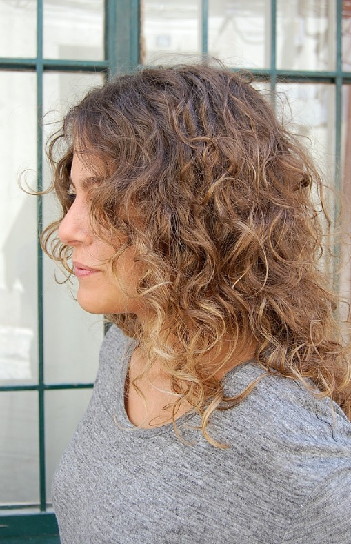 Long Naturally Curly Hair Ombre