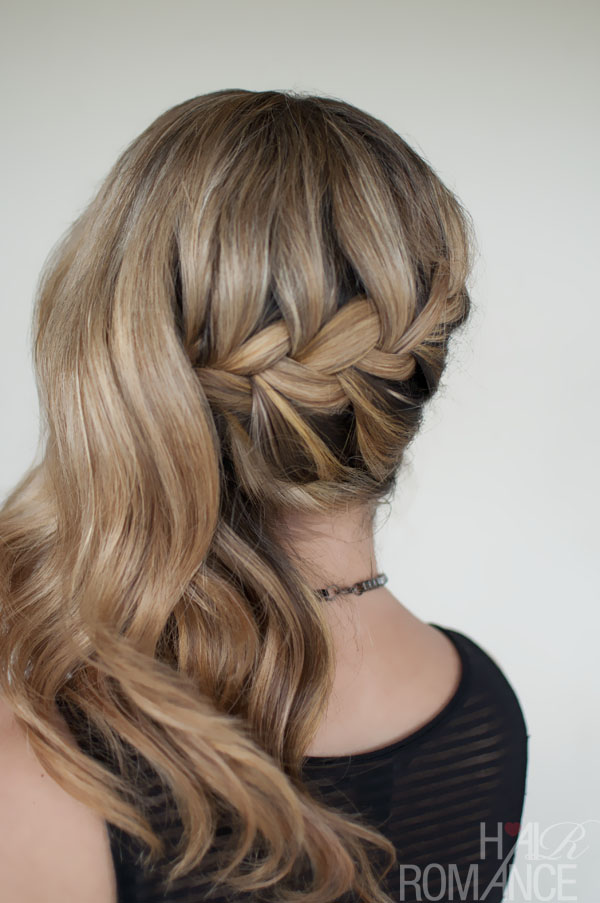 Romantic Side Swept French Braid Holiday Hair Inspirations