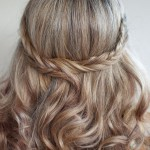 Wedding Hairstyle Ideas: Romantic Soft Curly Fishtail Half Crown