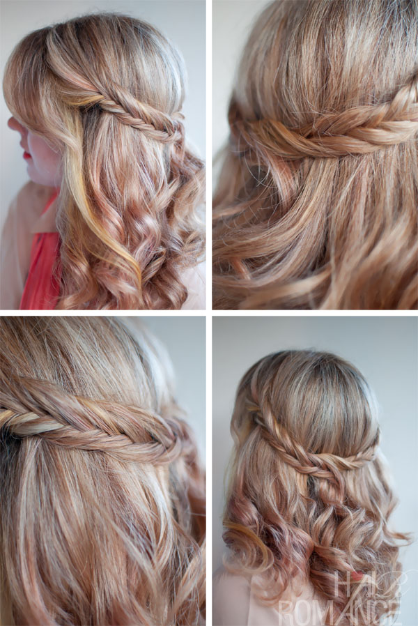 The Romantic Soft Curly Fishtail Half Crown For Long Hair