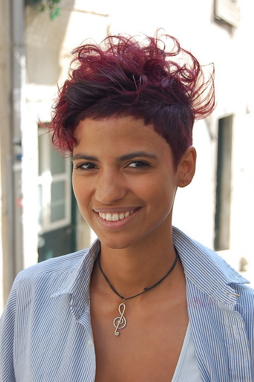 Sexy Sassy Red Short Hairstyle for Women