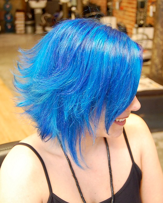 Short Blue Hair Color