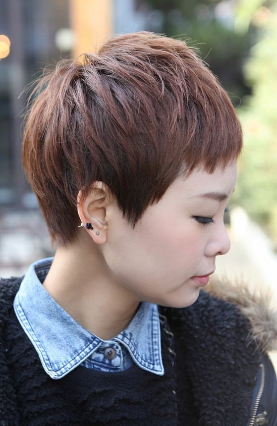 Sharp Sexy Rihanna Pixie Cut Boyish Asian Haircut For Female