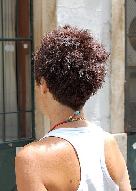 Short Pixie Haircut for Summer - Back View of Short Pixie ...