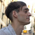 Side View of Cool Short Mushroom Haircut for Men