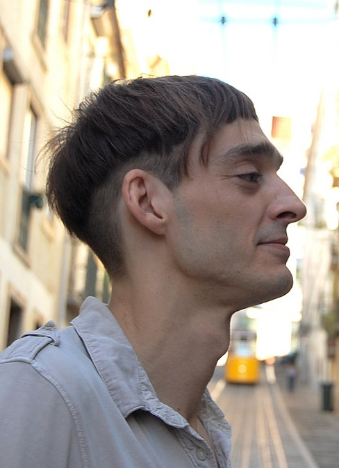 Side View of Cool Short Mushroom Haircut for Men