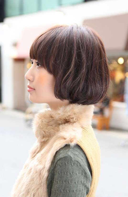 Incredible Side View Of Cute Asian Bob Hairstyle Hairstyles Weekly Short Hairstyles For Black Women Fulllsitofus
