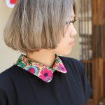 Side View of Cute Japanese Short Bob Cut - Center Parting Straight Cut