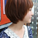 Side View of Cute Short Korean Bob Hairstyle - Sweet! ❤