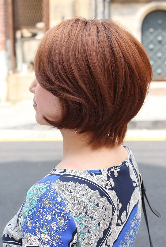 Side View Of Short Auburn Haircut For Women Hairstyles
