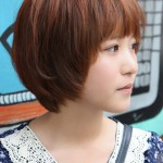 Sweet Layered Short Korean Hairstyle - Side View of Cute Bob Cut