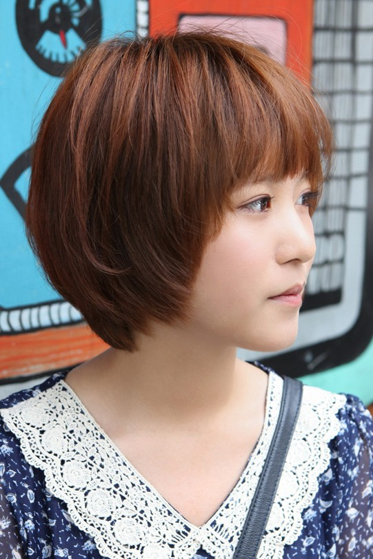 Cute Korean Short Haircut Layered Bob With Feathered Ends - Short hairstyle bob cut