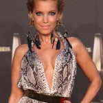 Sylvie van der Vaart Short Straight Swept Back Hairstyle