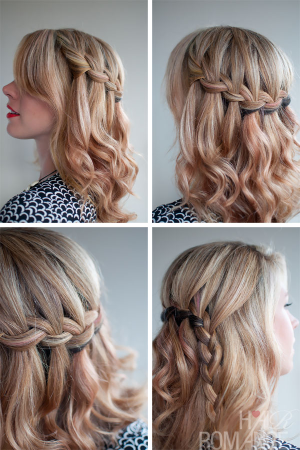 Incredible Waterfall Braid with Half Up Hairstyles 600 x 898 · 162 kB · jpeg