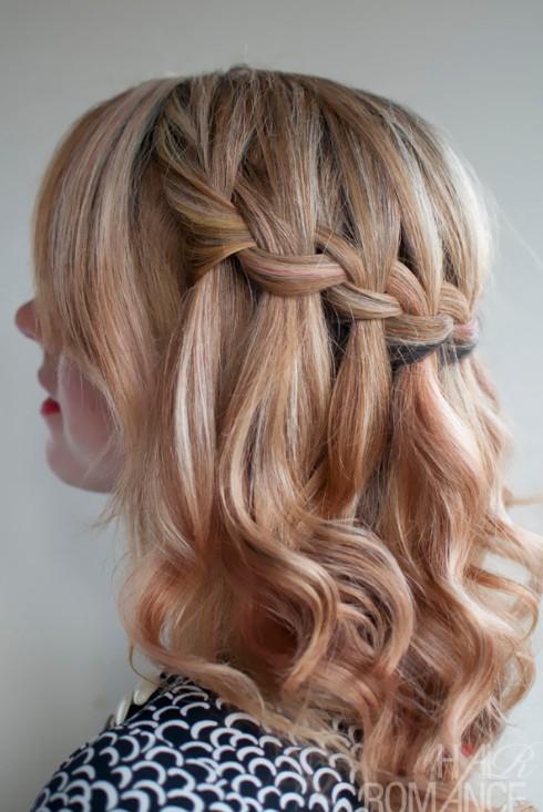 School Hairstyle Ideas The Waterfall Braid Beautiful Half Up