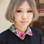 Trendy Short Bob Hairstyle for Asian Girls