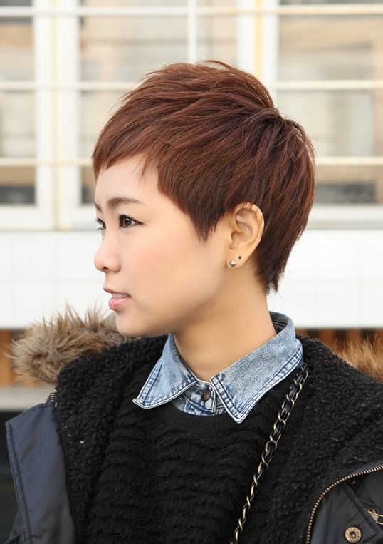 Trendy Short Layered Boyish Hair Style - Boyish Cut for Women