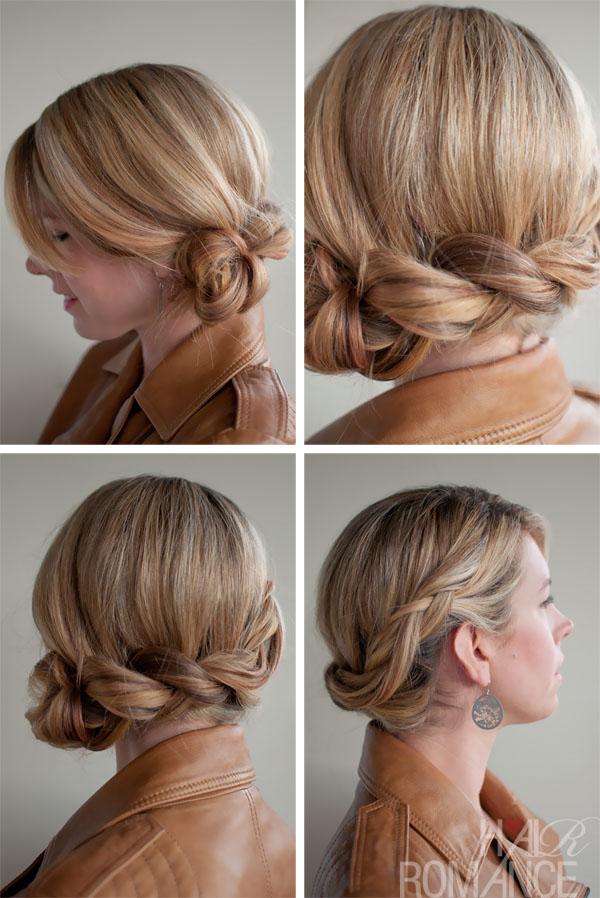 Twist Side Braid - Romantic Side Braided Updo for Wedding