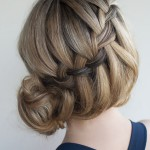 Waterfall Braided Bun - Elegant Formal Updos for Women