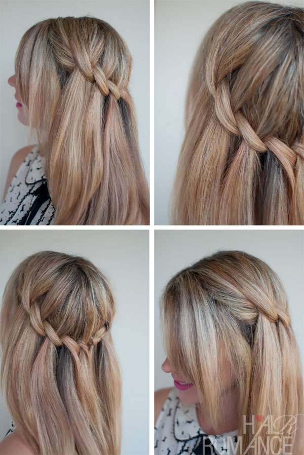 Summer Hairstyle How To : Beautiful feminine waterfall twist braid summer