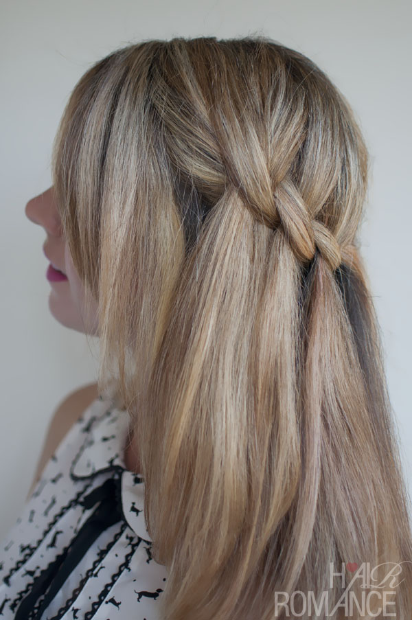 Beautiful Feminine Waterfall Twist Braid Summer