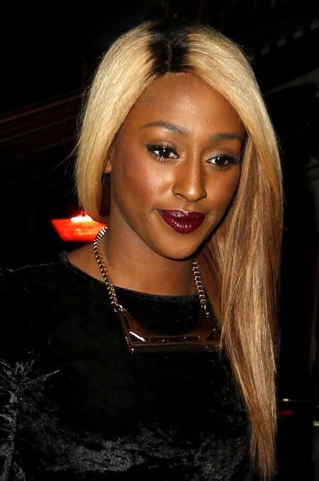 Alexandra Burke Long Ombre Hair for Black Women
