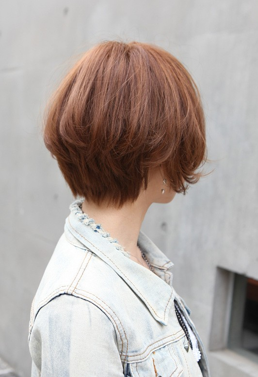 Cool Trendy Short Copper Haircut From Japan Stacked Short Angled Bob Hairstyles For Women Draintrainus