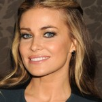 Carmen Electra Romantic Twisted Long Curly Hairstyle