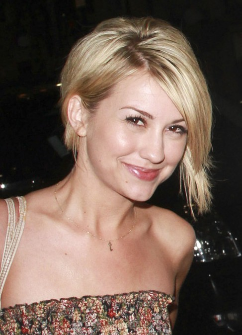 Chelsea Kane Inverted Bob Hairstyle with Bangs