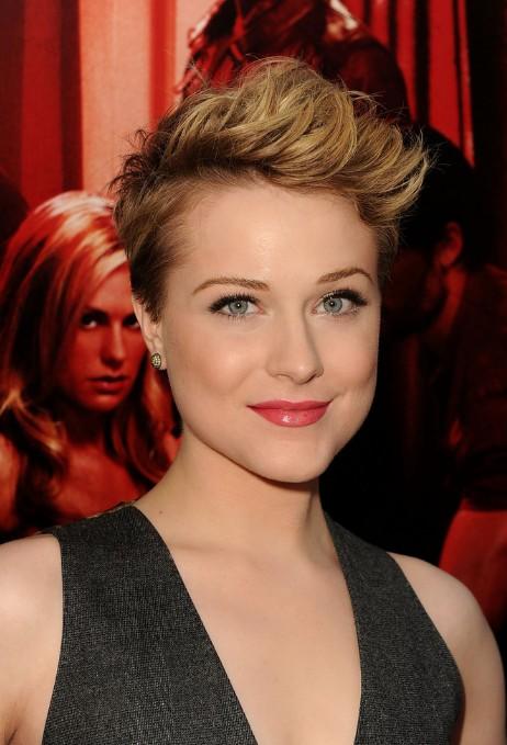 Evan Rachel Wood Short Stylish Pixie Haircut