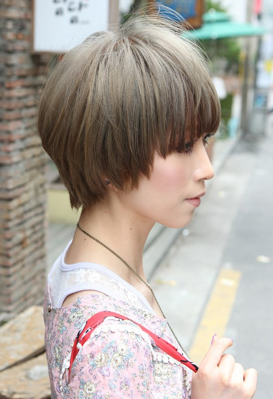Asian short hair with bangs