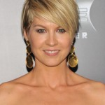 Jenna Elfman Layered Razor Cut with Side Swept Bangs