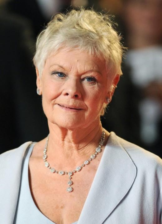 Short Pixie Cut For Mature Women Over 70 Judi Dench
