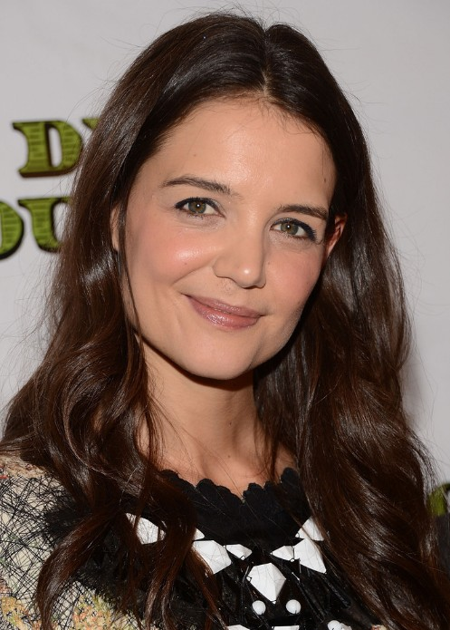 Katie Holmes Effortlessly Romantic Curly Hairstyle