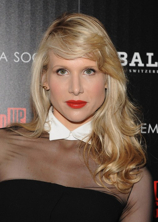 Lucy Punch Deep Side Parted Hairstyle