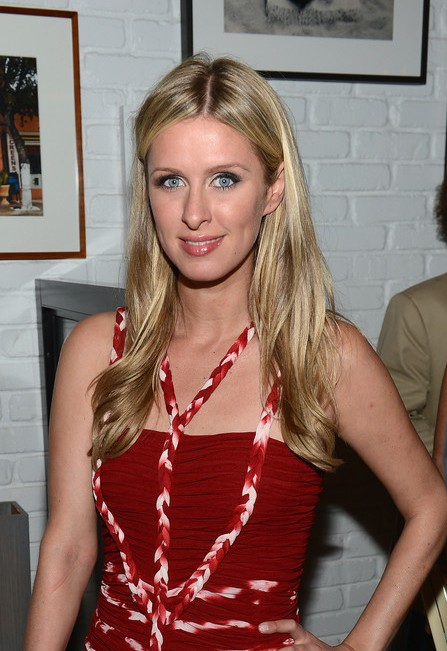 Nicky Hilton Long Center Parted Hairstyle