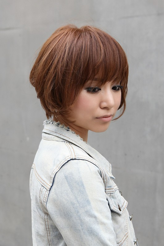 Trendy Short Copper Haircut from Japan - Stacked Short Angled Bob - Hairstyles Weekly