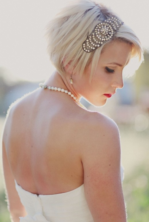 Short Bridal Hairstyles 2014